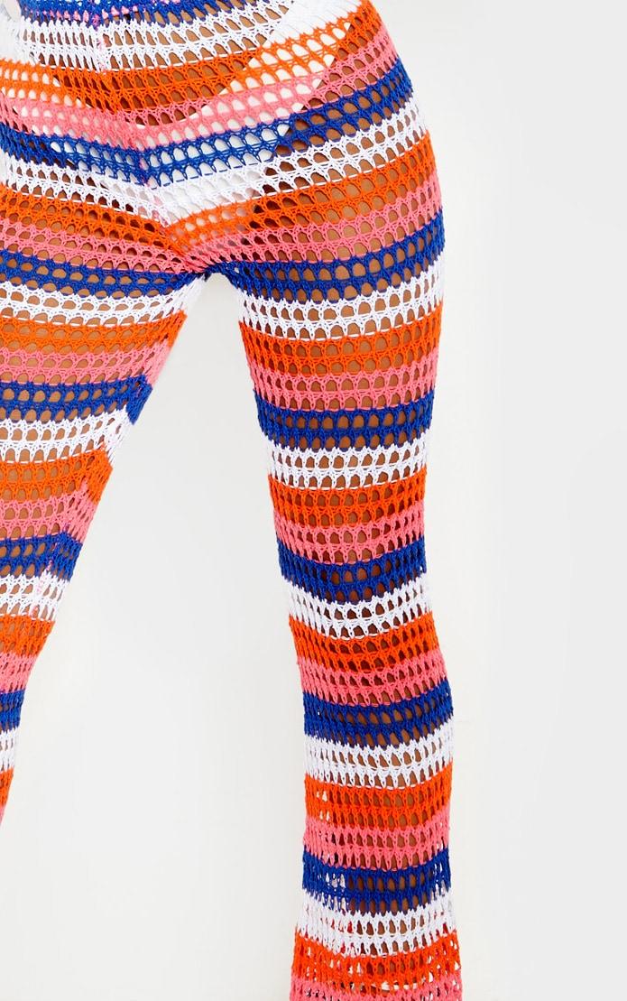 Pantalon en crochet à rayures multicolores 5