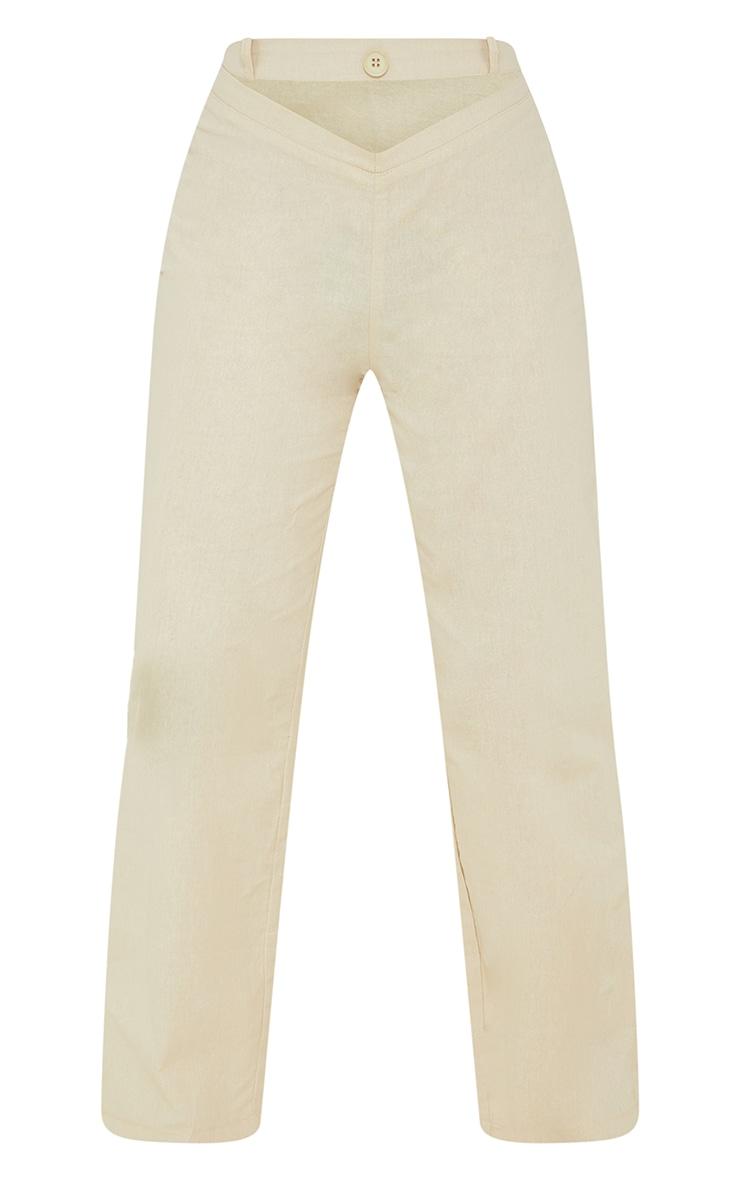 Petite Stone Cut Out Waist Band Detail Pants 5