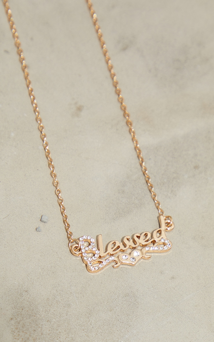 Gold Blessed Diamante Necklace 3