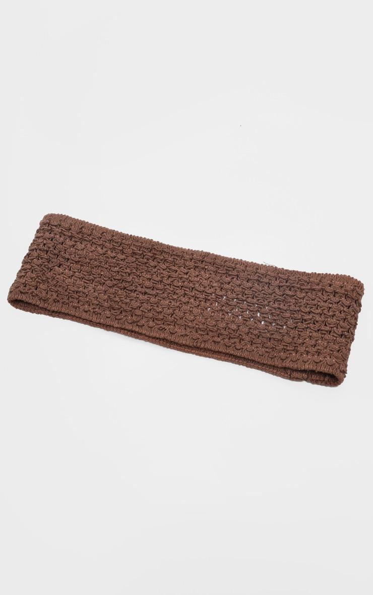 Brown Crochet Headband 3