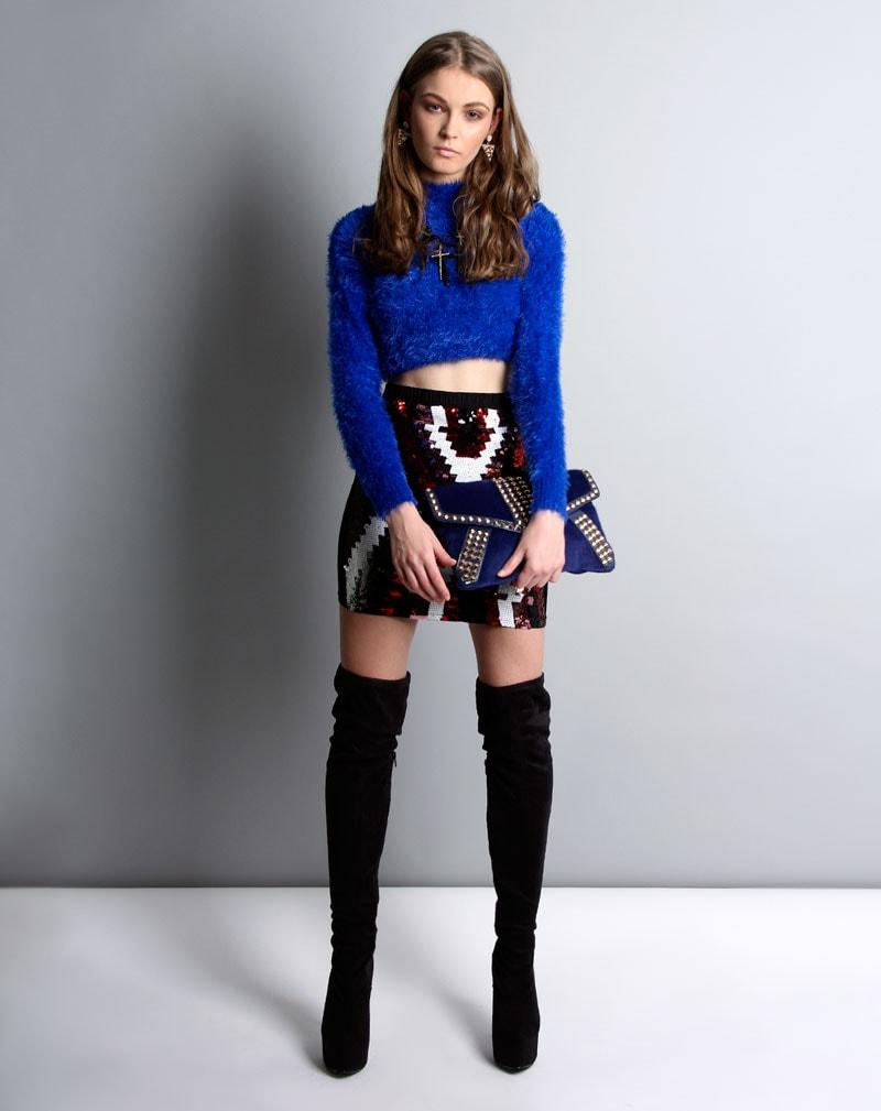 Harlie Fur Jumper Dress  4