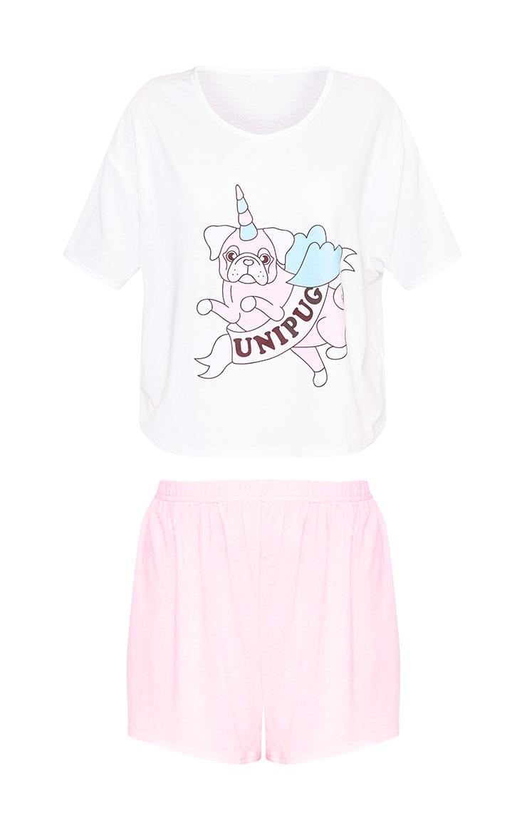 Baby Pink Unipug Printed PJ Set 3