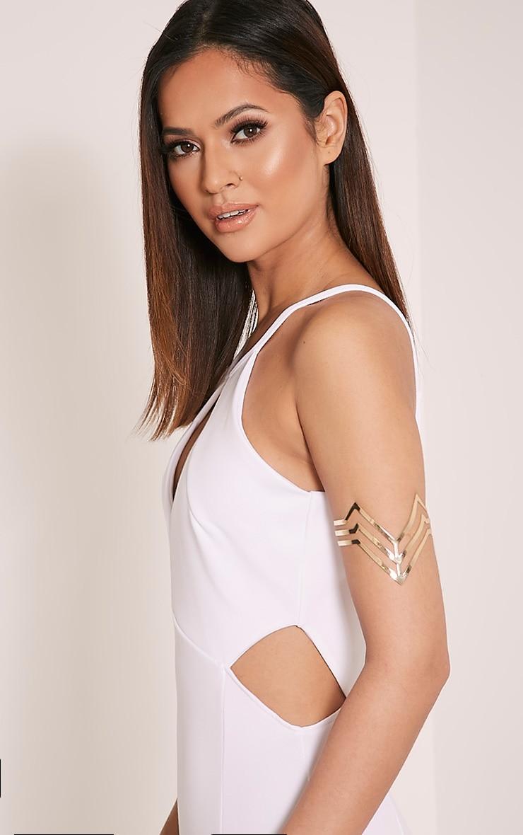 Lorena Gold Cut Out Upper Arm Cuff 1