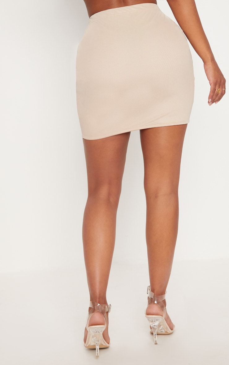 Shape Nude Mesh Bodycon Skirt 4
