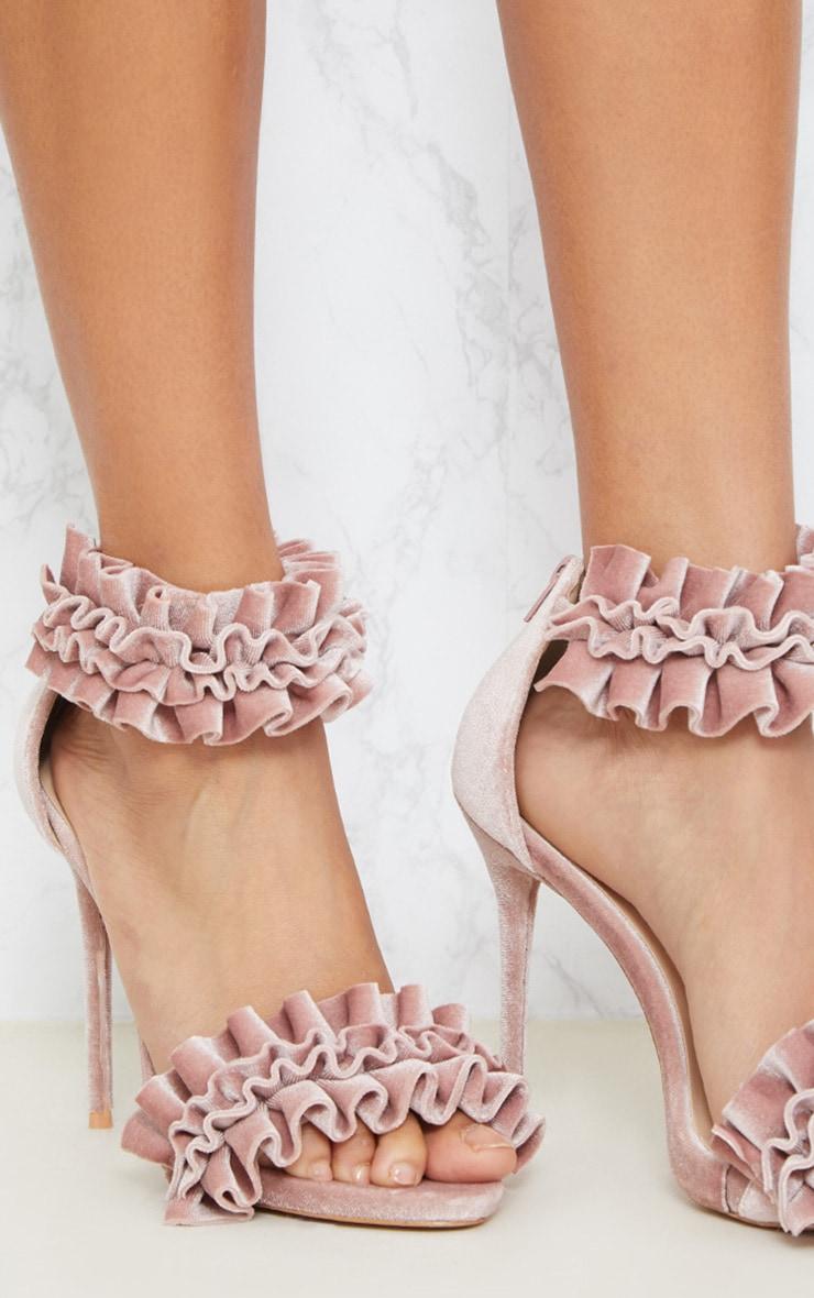 Blush Ruffle Frill Strappy Sandal 2