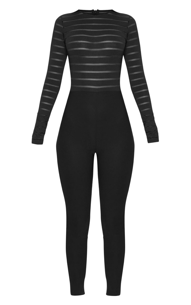 Black Burn Out Mesh Jumpsuit 3