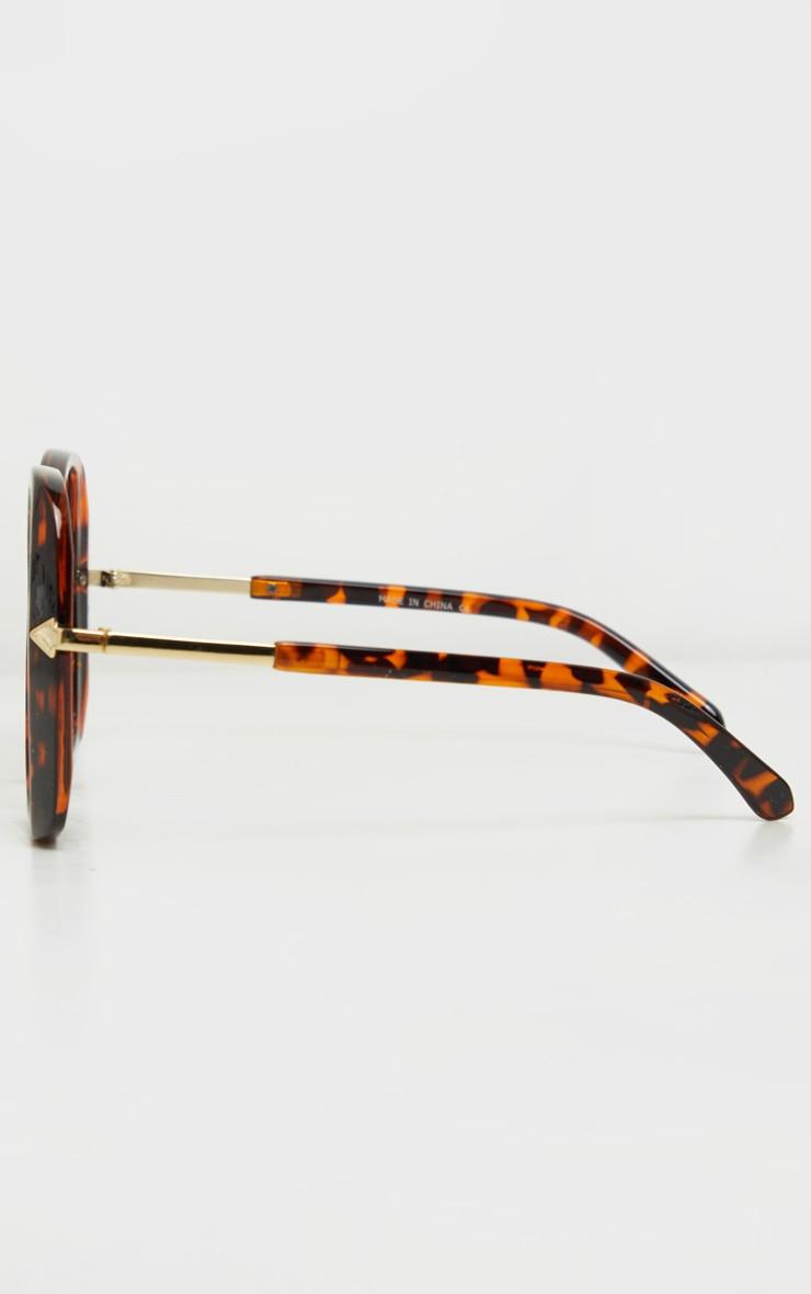 Tortoiseshell Oversized Angled Square Sunglasses 4