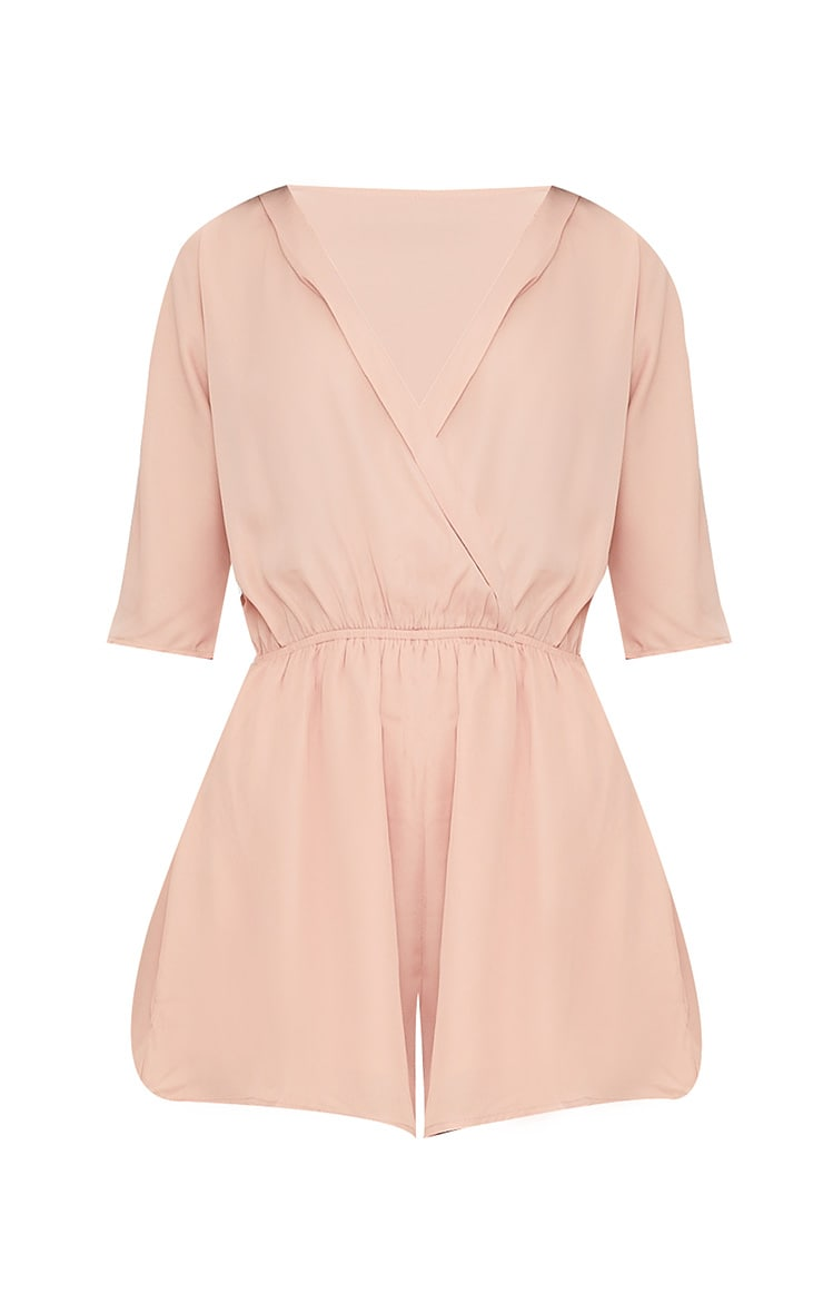 Bobby Nude Wrap Front Romper 3