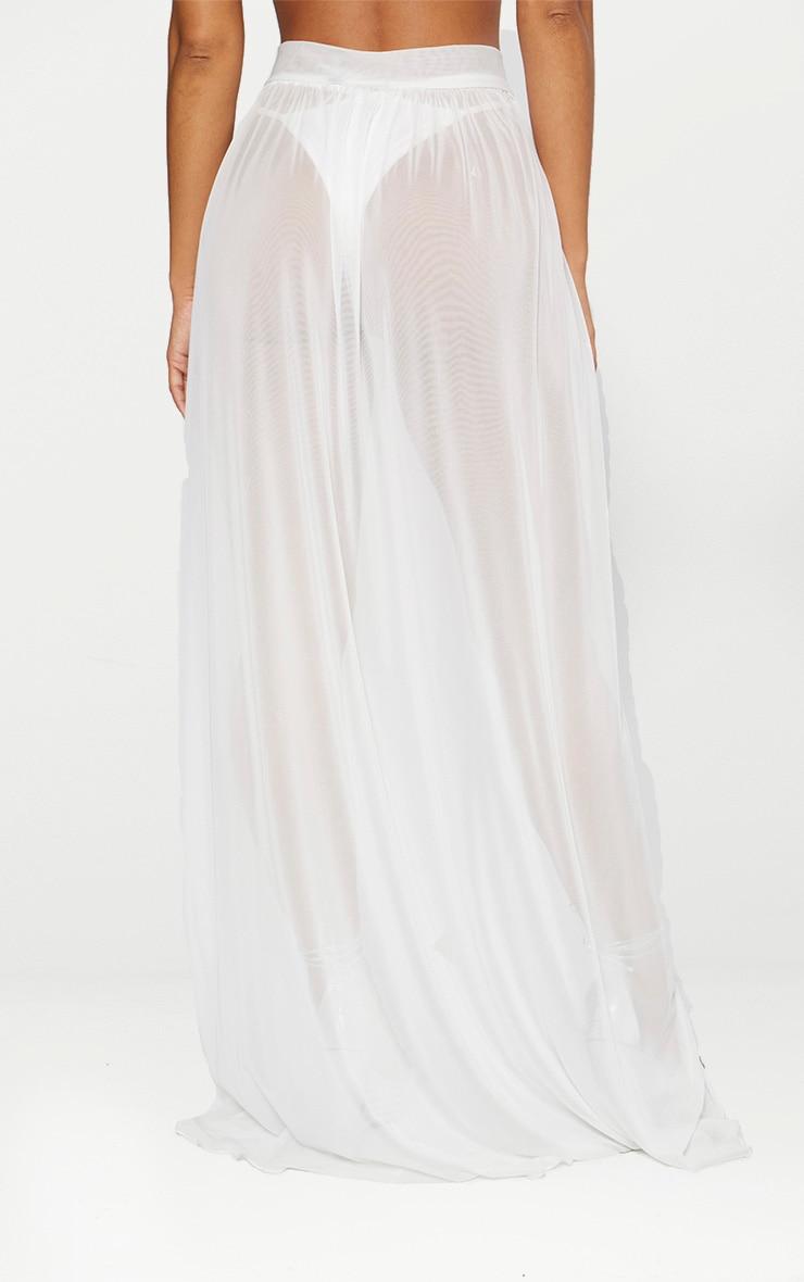 White Tie Side Maxi Beach Skirt 3