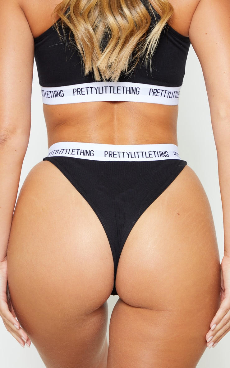 PRETTYLITTLETHING Black Knickers 4