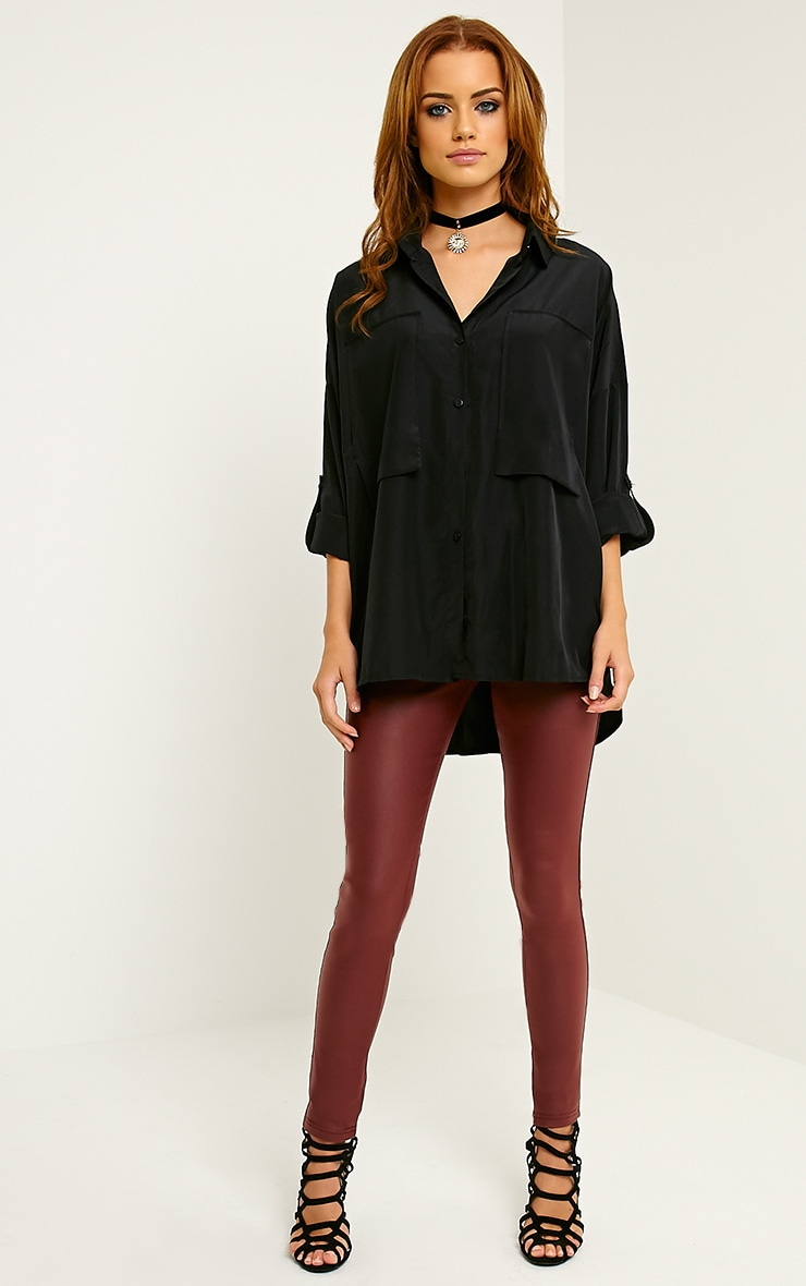 Birta Black Oversized Pocket Shirt 3