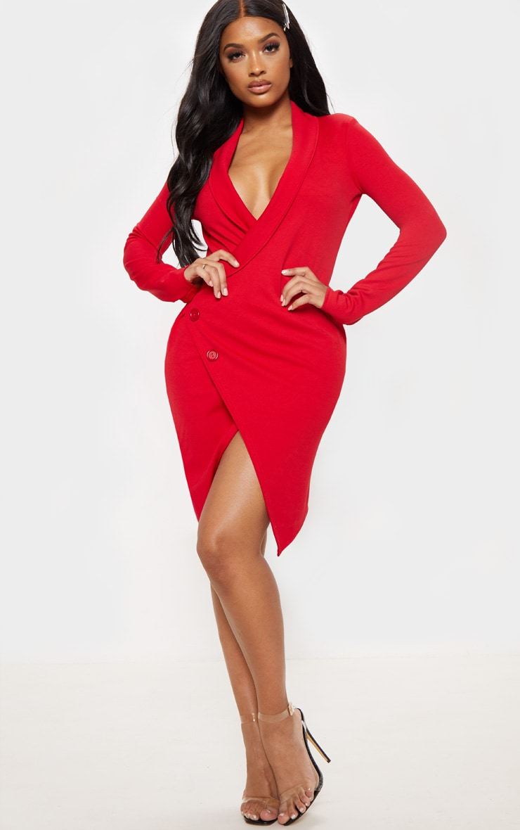 Shape - Robe blazer rouge 1