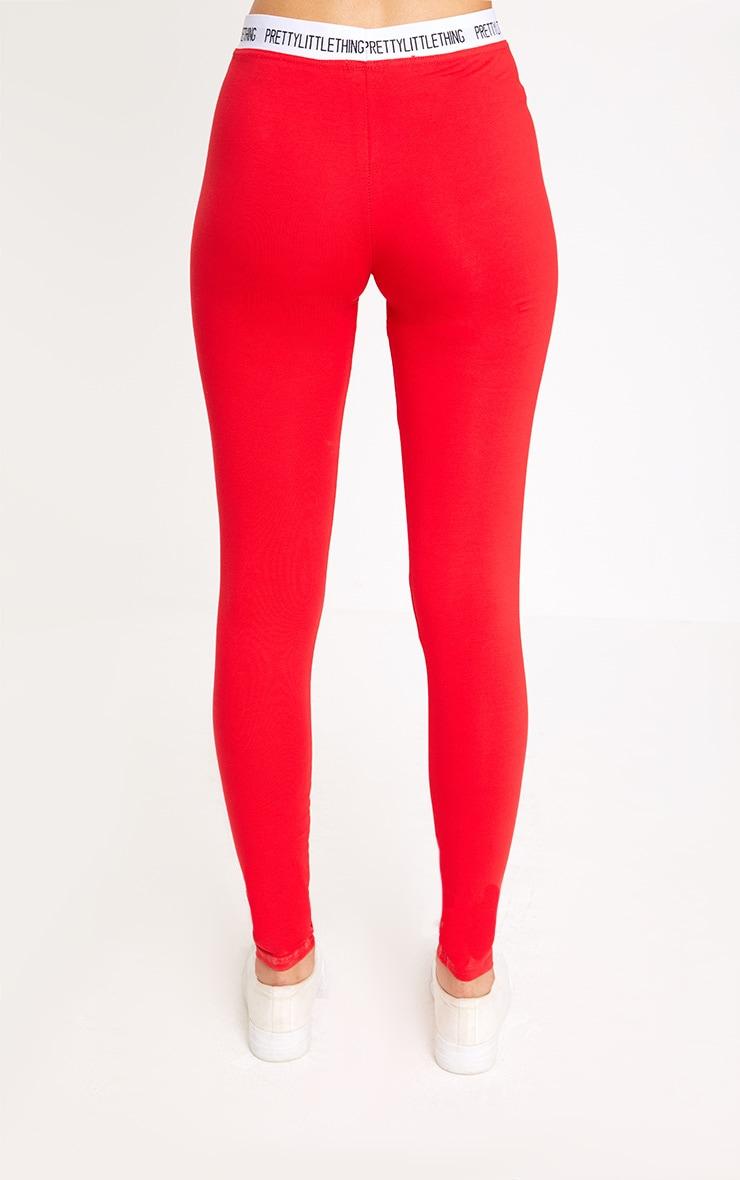 Red Prettylittlething Leggings 4