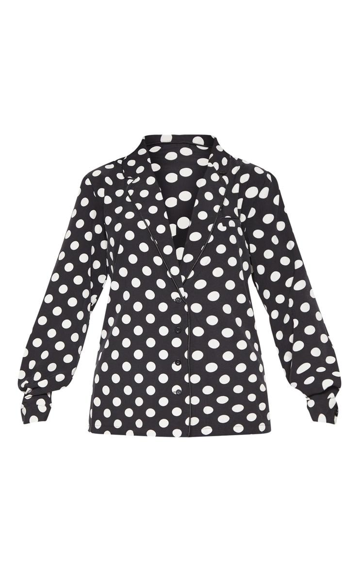 Black Polka Dot Woven Shirt 3
