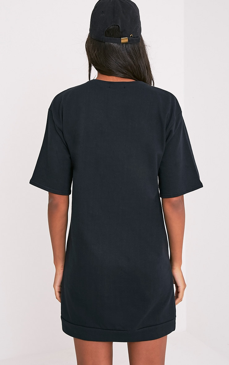 Anabelle Black Button Up Sweater Dress 2