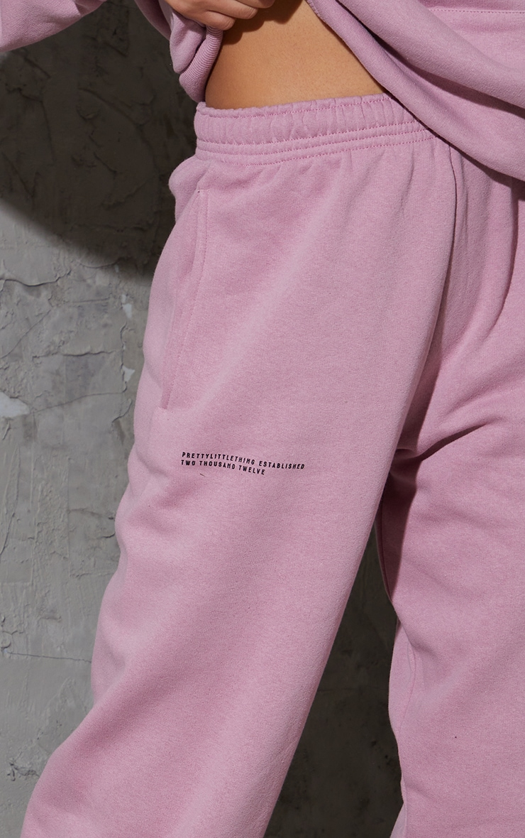 PRETTYLITTLETHING Dusty Pink Est 2012 Joggers 4