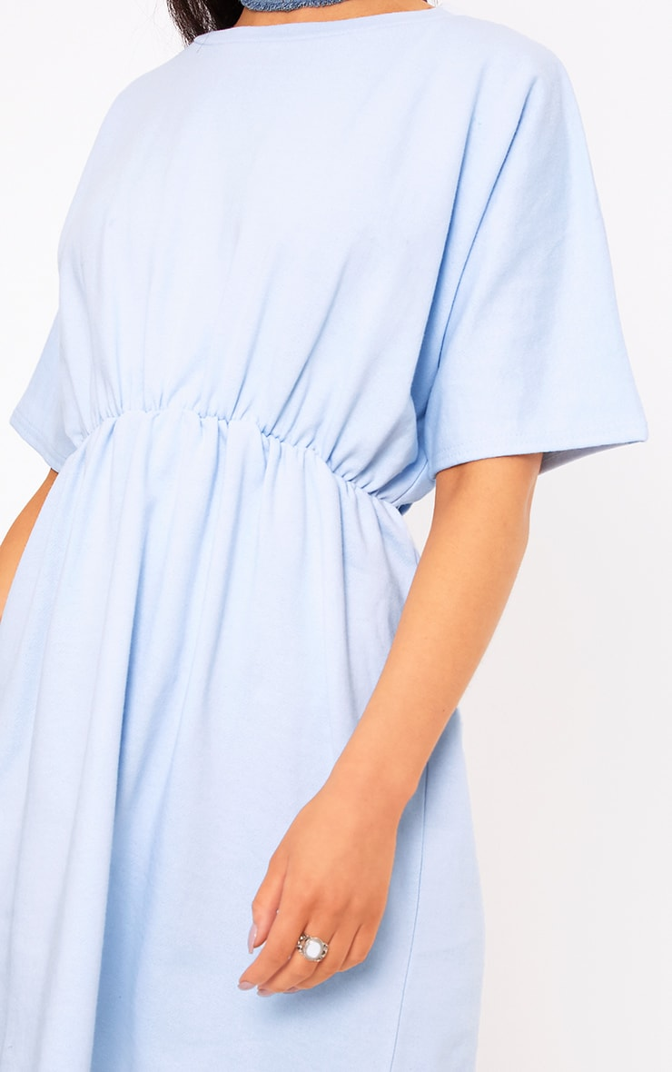 Baby Blue Waist Detail Sweater Dress 5