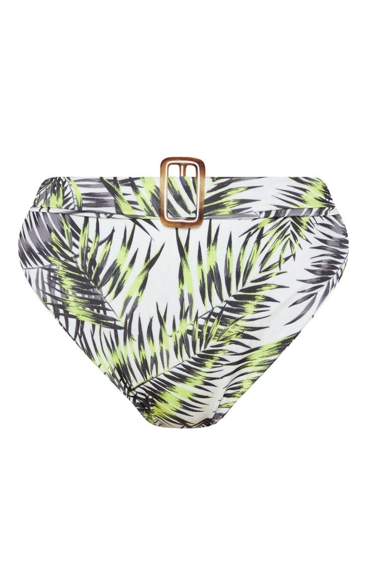 Lime Palm High Belted Waist Bikini Bottom 3