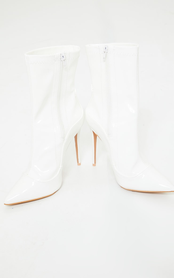 White High Point Sock Boot 3