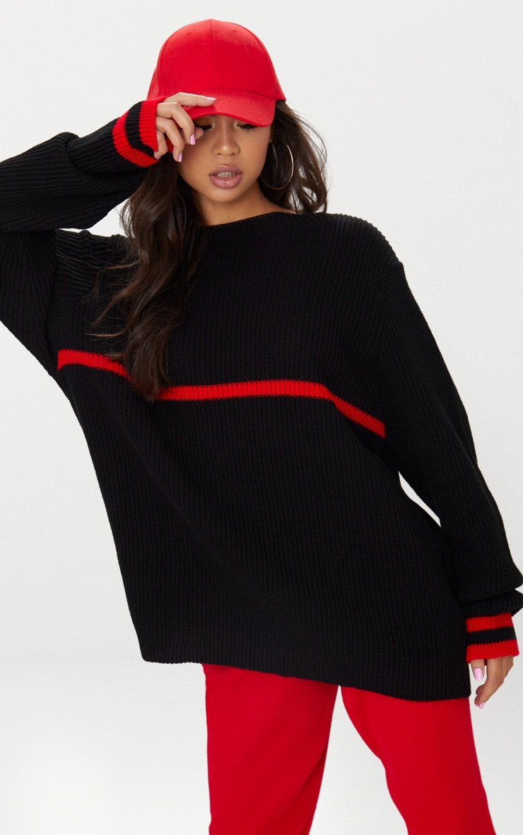 Black Stripe Detail Jumper 1