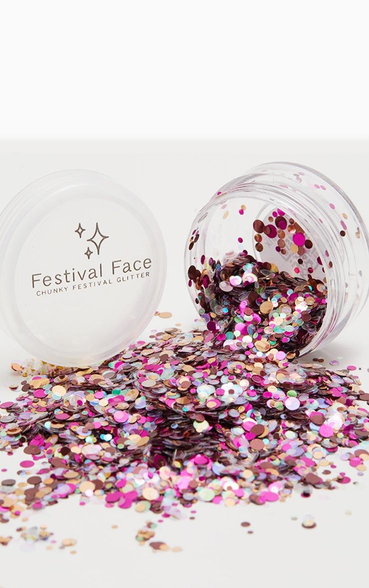 Festival Face Pink Minx Glitter Pot 1