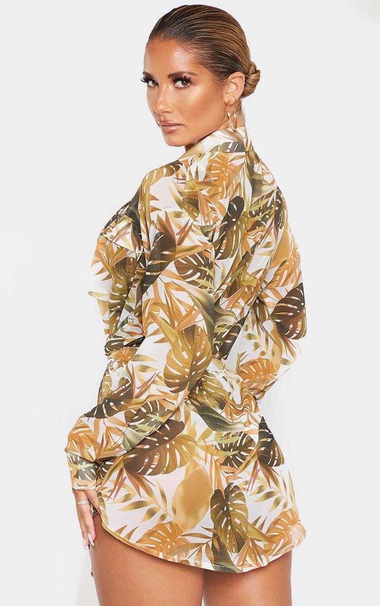 Mustard Leaf Utility Beach Shirt 2