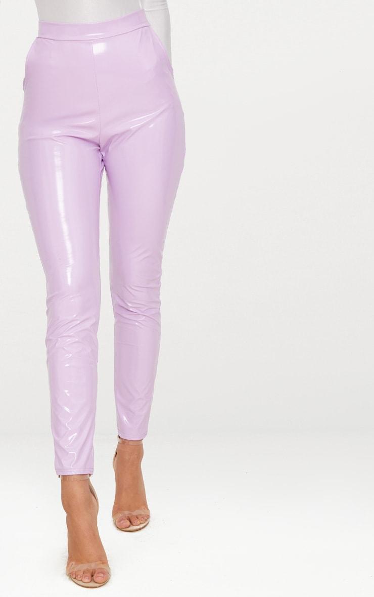 Lilac Vinyl Leggings  2