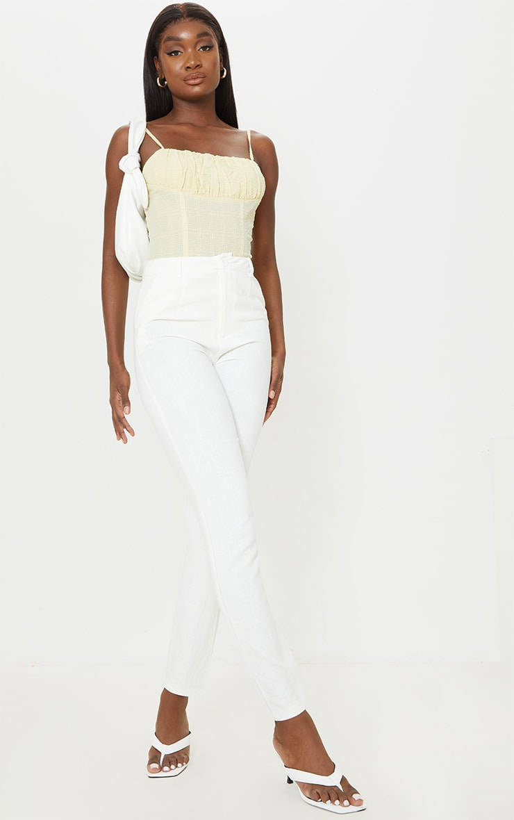 Tall Stone Ruched Strappy Bodysuit 3