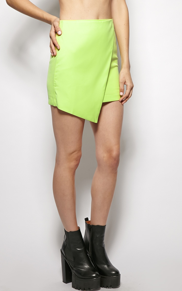 Leona Lime Asymmetric skirt 4