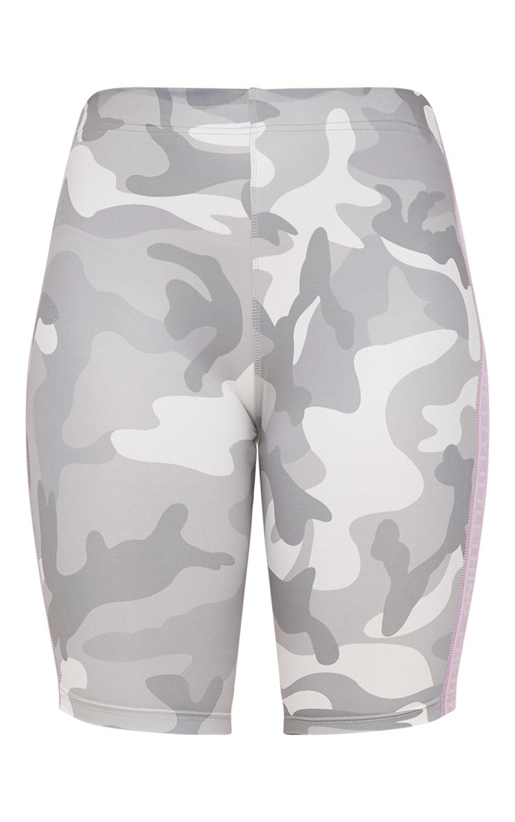 Grey Camo Cycling Shorts 3