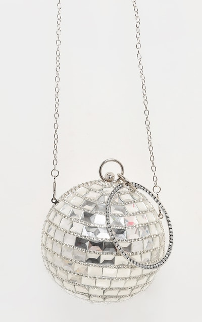 Silver Gemstone Sphere Bag