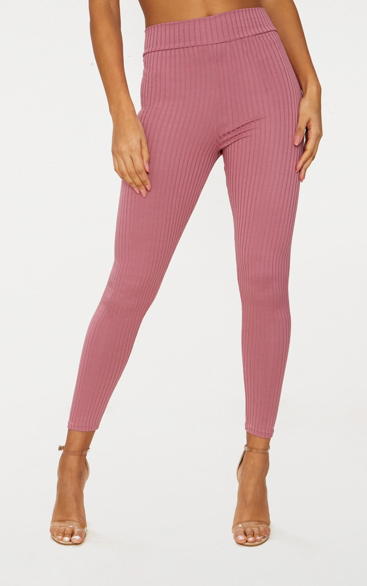 Harlie Rose Ribbed High Waisted Leggings 2