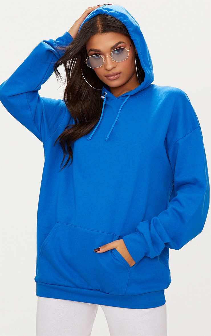 Cobalt Blue Oversized Hoodie 1