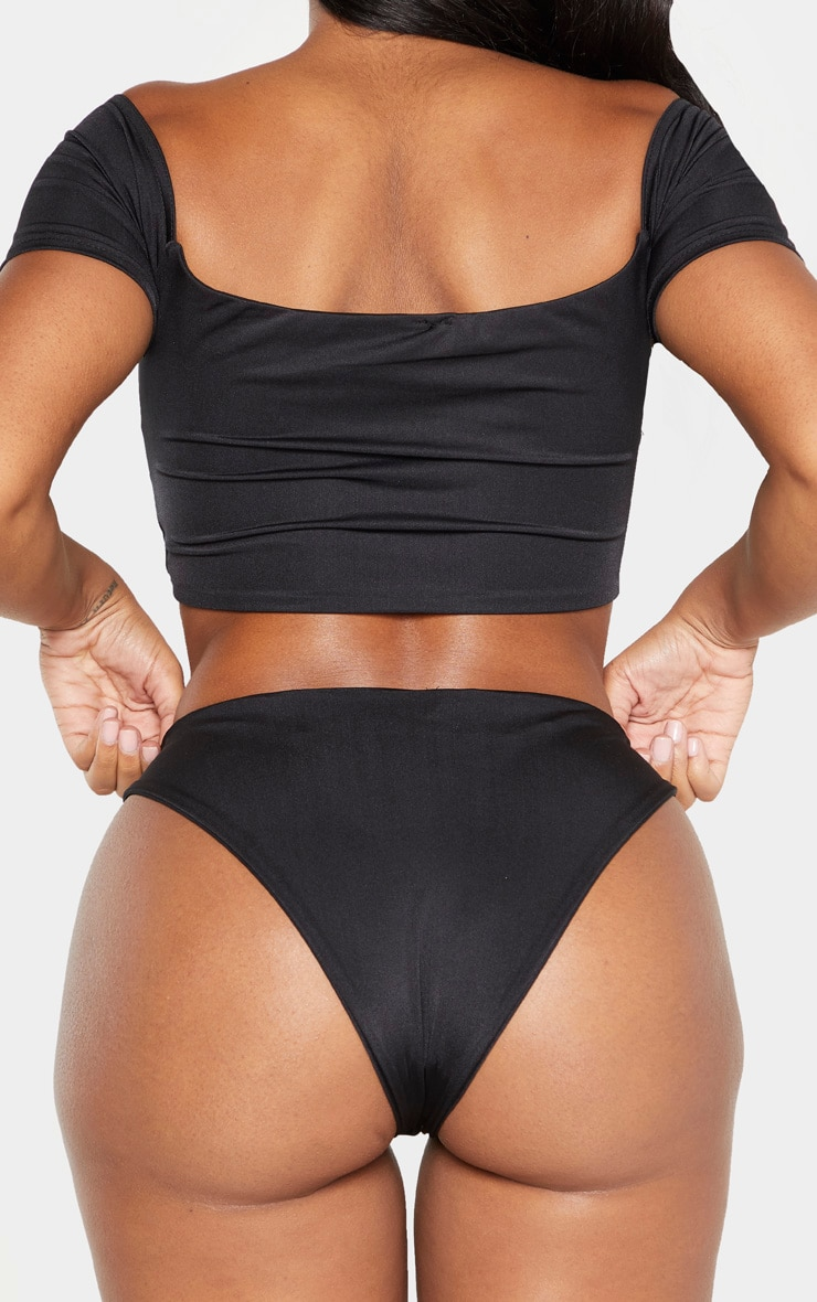 Shape Black High Rise Bikini Bottoms 3