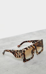 Jeepers Peepers Tort Chunky Gold Side Detail Sunglasses 2