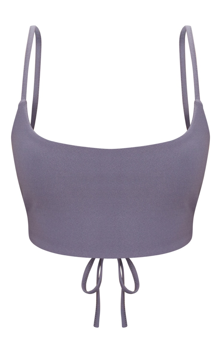 Charcoal Blue Cami Crop Top 3