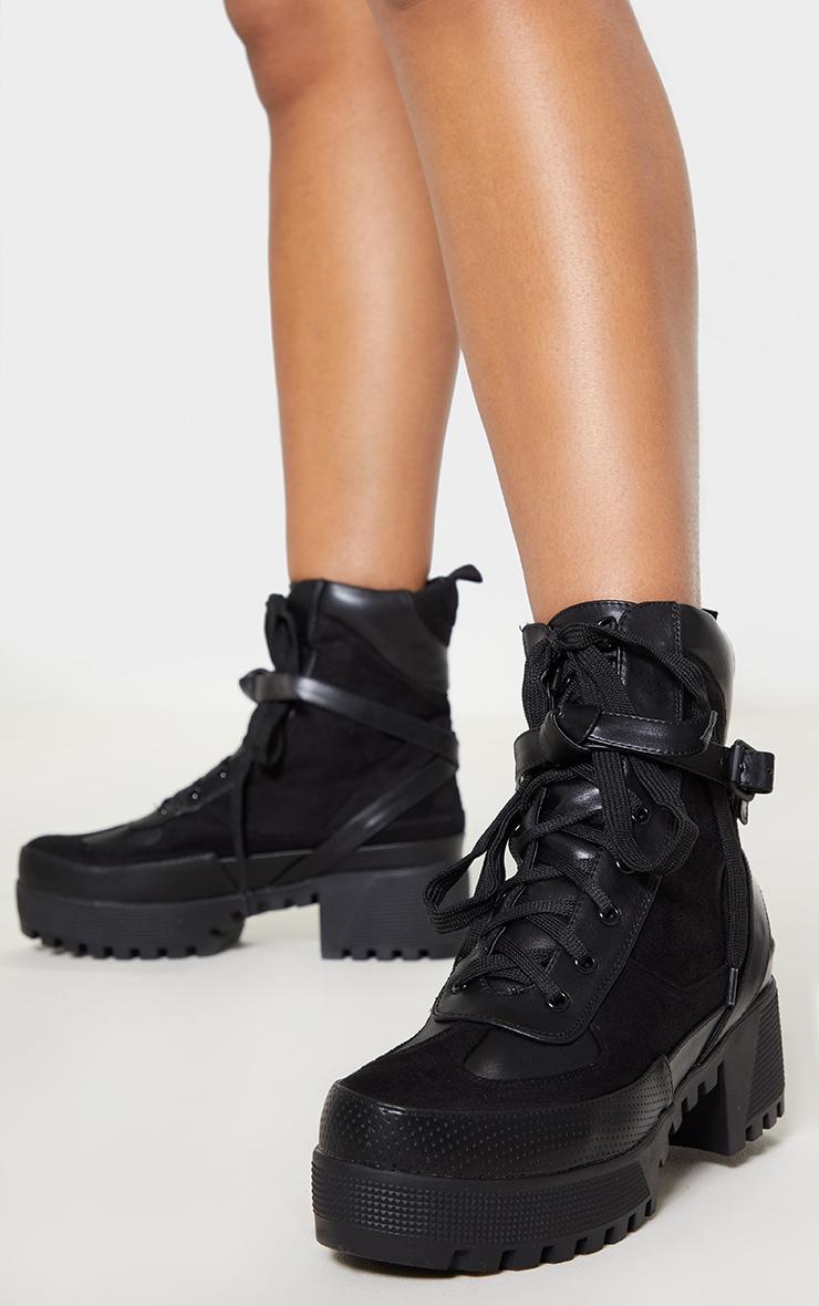 Karmel Black Biker Boots 1