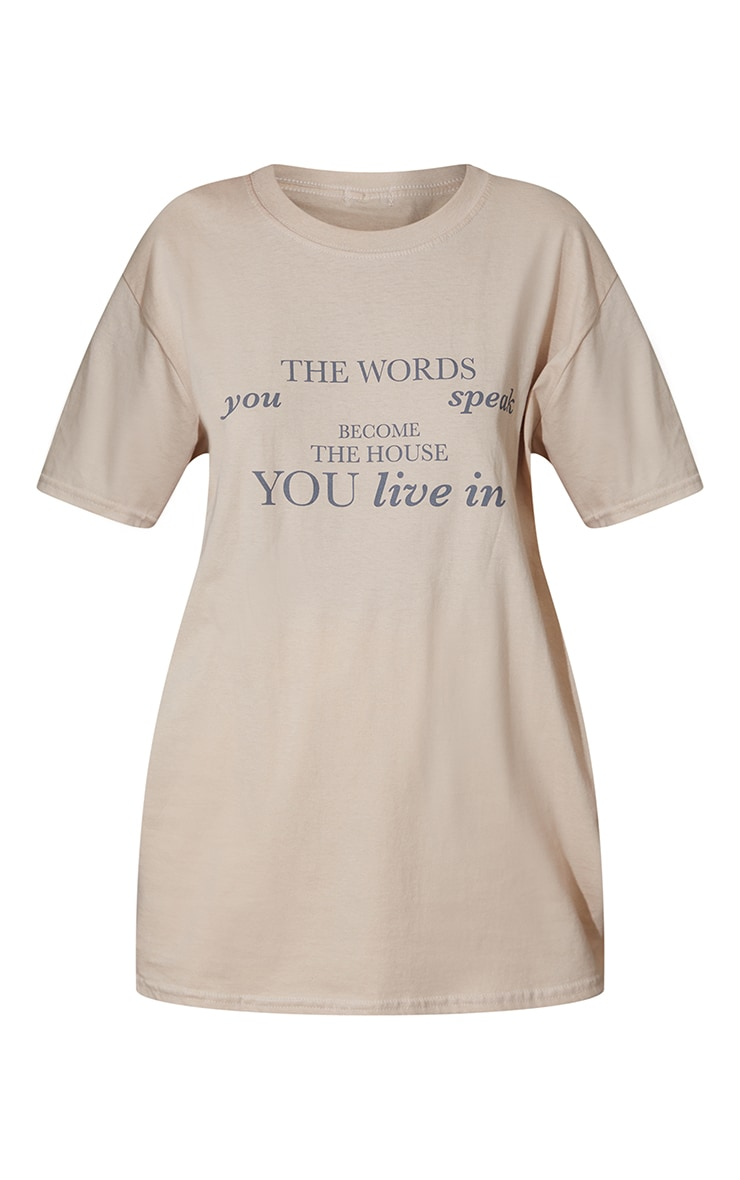 Sand Words You Speak Printed T Shirt 5
