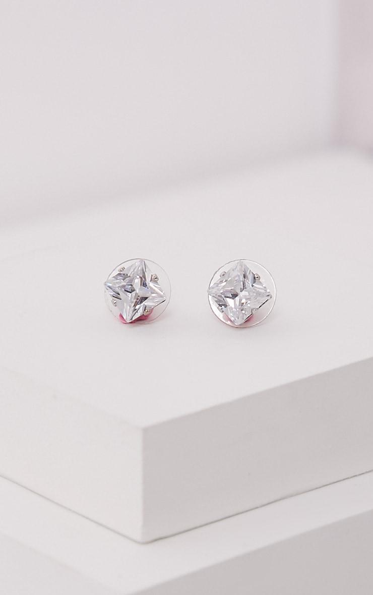 Valeane Silver Crystal Studs 3
