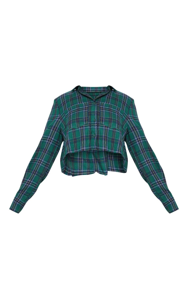 Green Crop Check Shirt 3