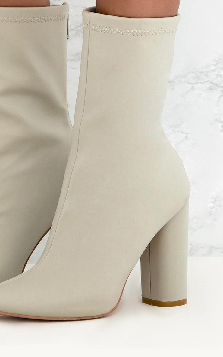 Addie bottes chaussettes pointues en néoprène gris clair 5