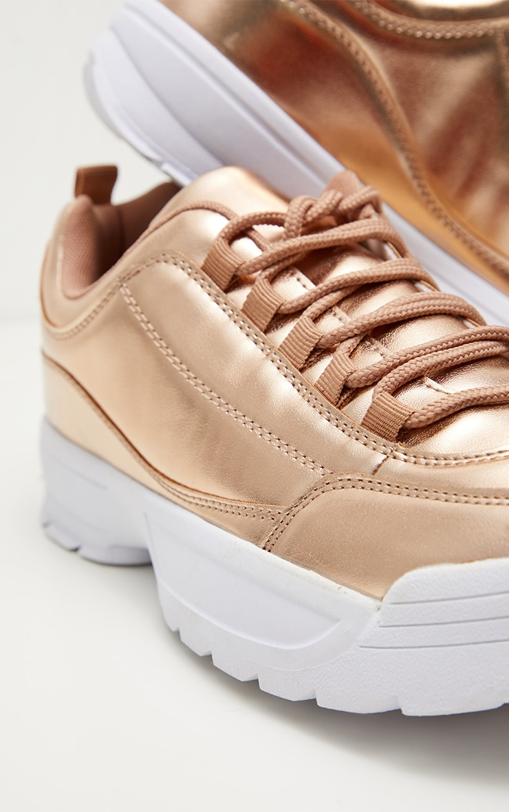 Pink Chunky Cleated Sole Trainer 4