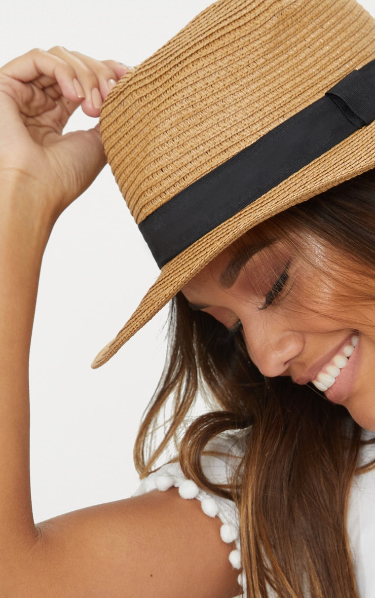 Straw Trilby Hat 3