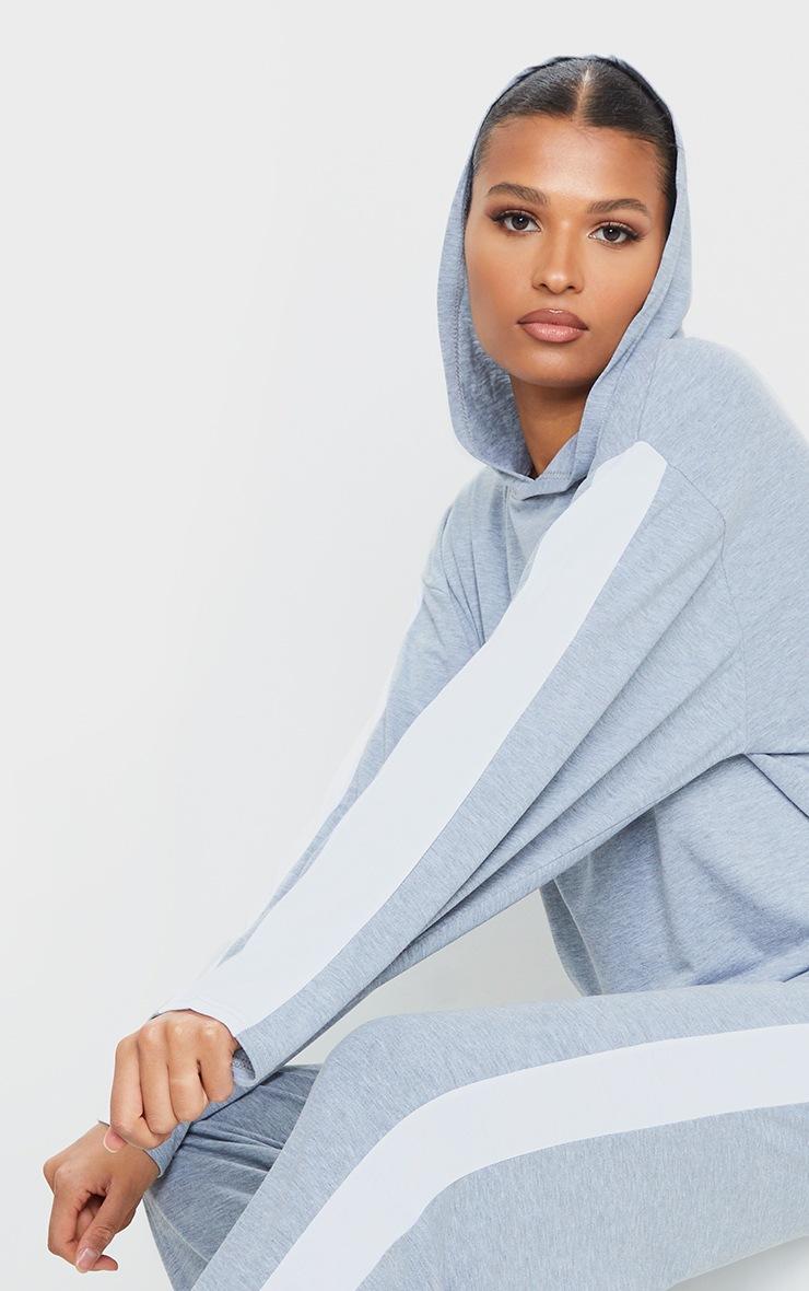 Grey Side Stripe Hoodie 4