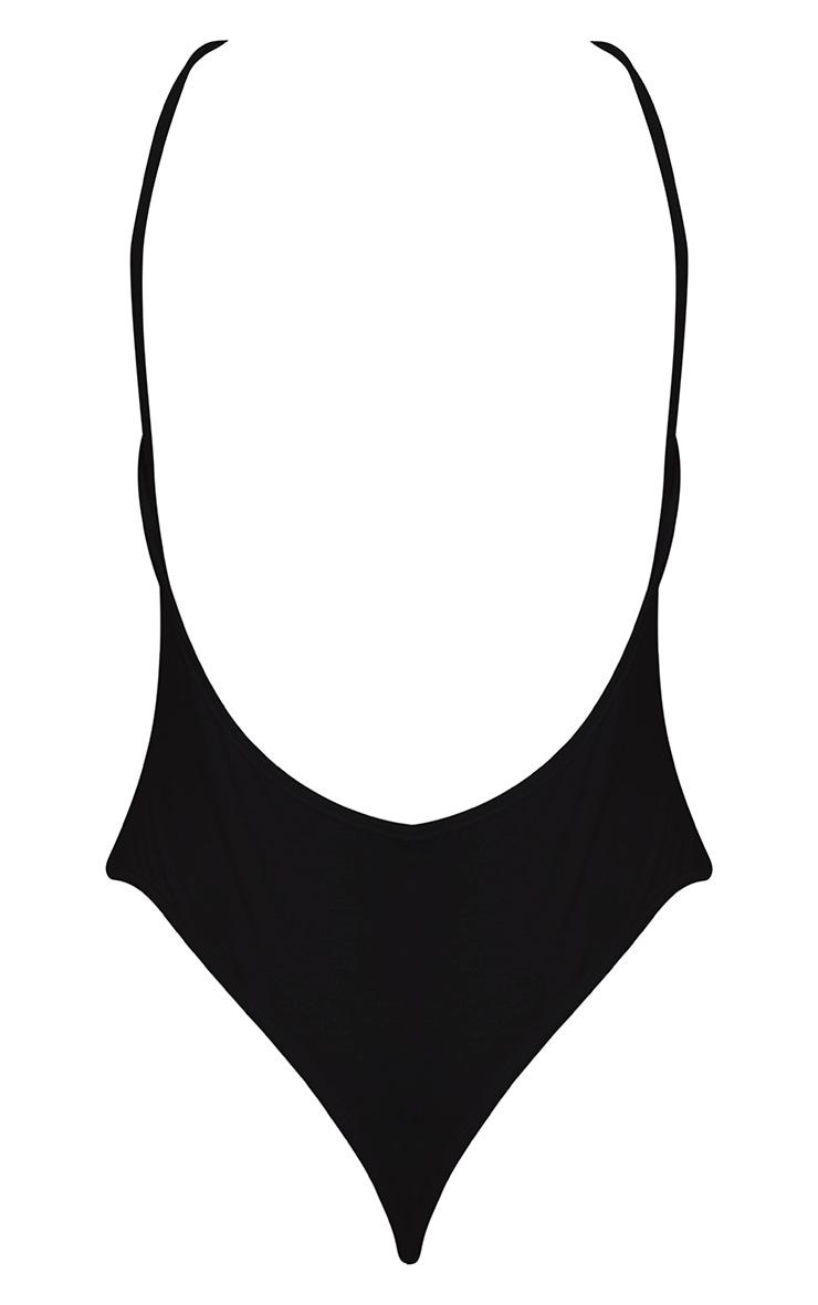 Basic body-string en jersey à dos échancré noir 3