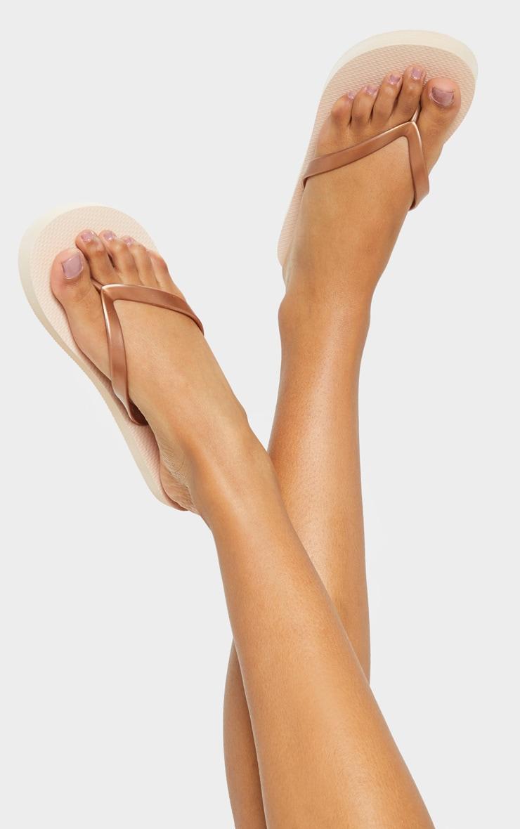 Rose Gold Flip Flop 3