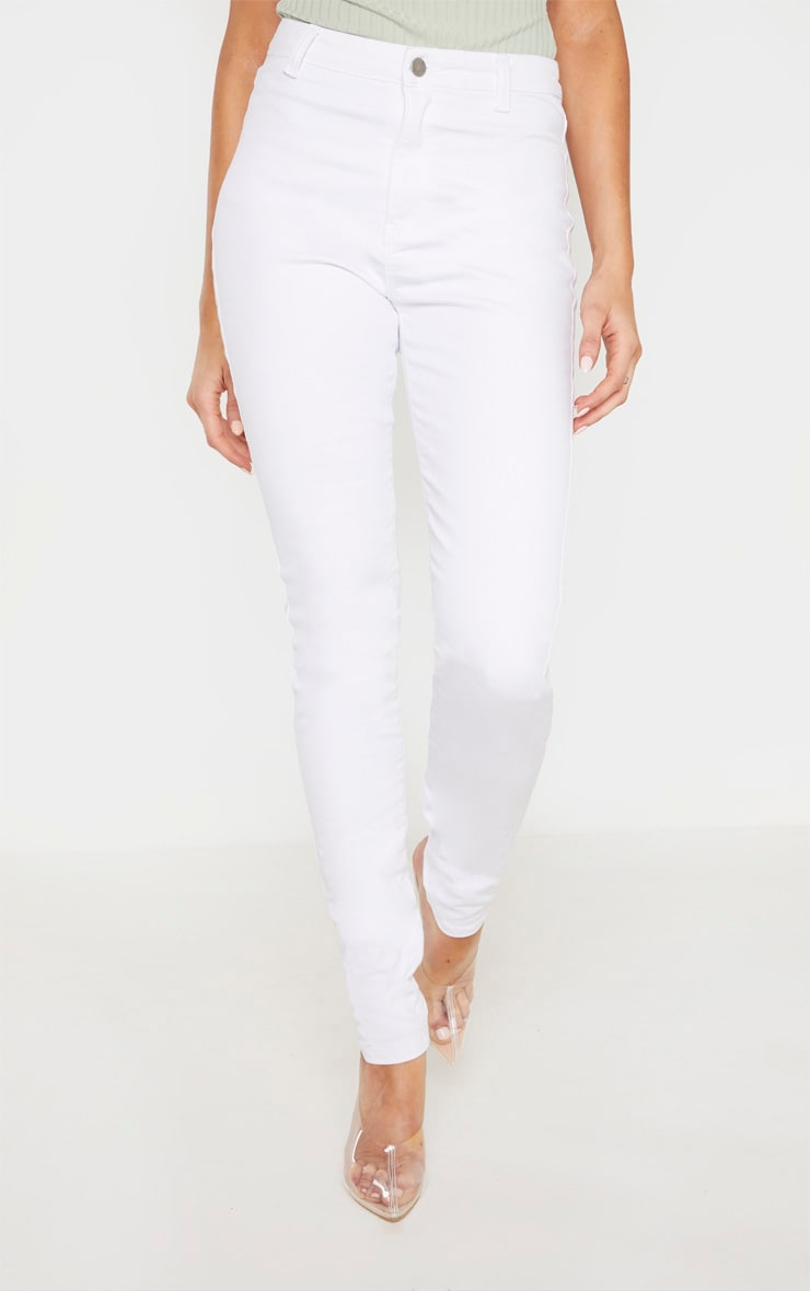 Tall White Super Stretch Skinny Jeans 2