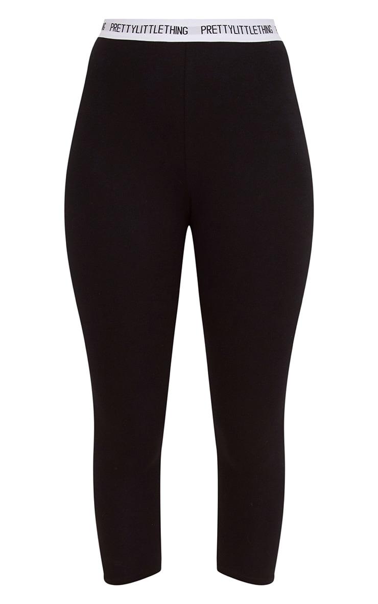 PRETTYLITTLETHING Black Cropped Leggings 3