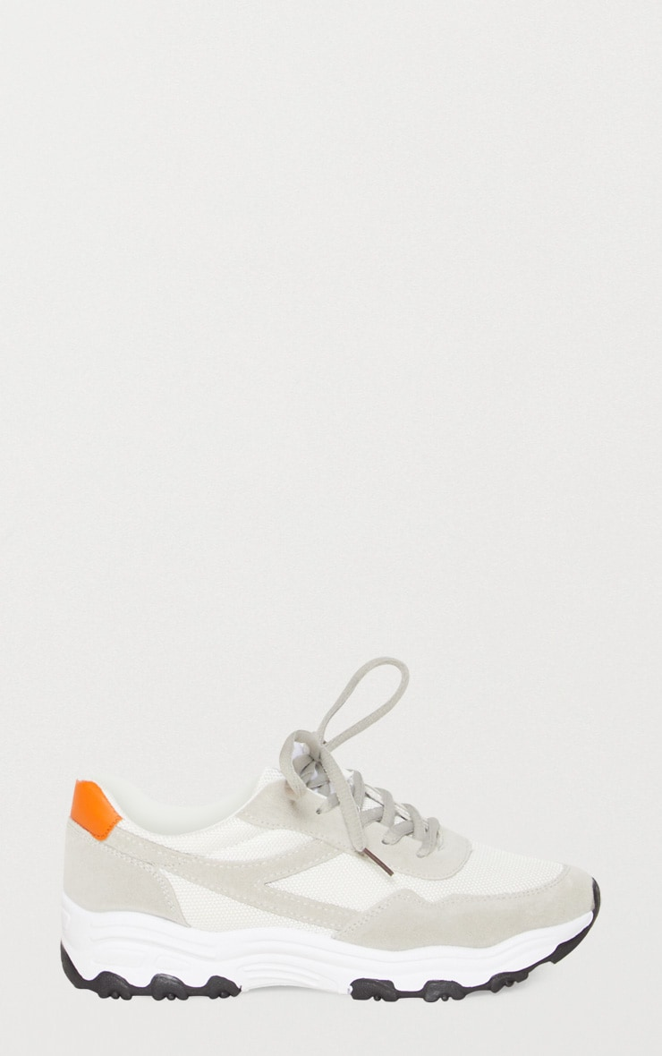 White Chunky Contrast Trainers 3