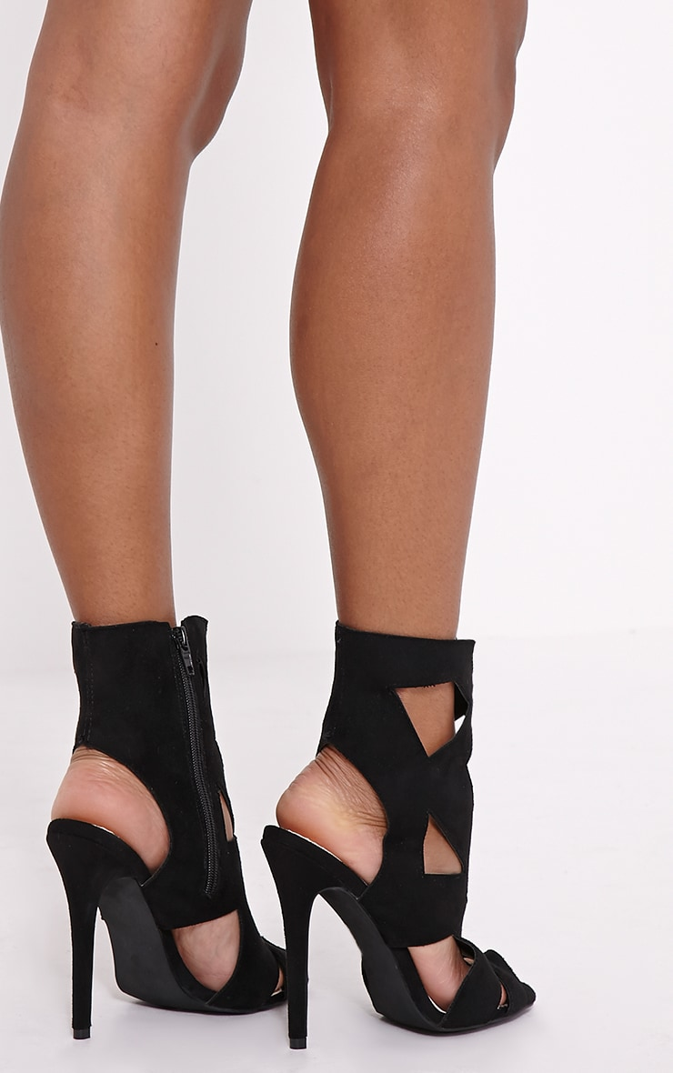 Sheree Black Cut Out Heeled Sandals 2